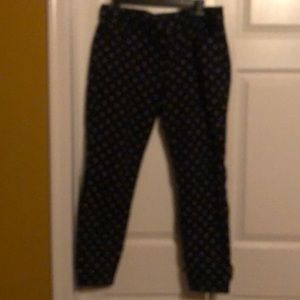 Pants with a delicate print